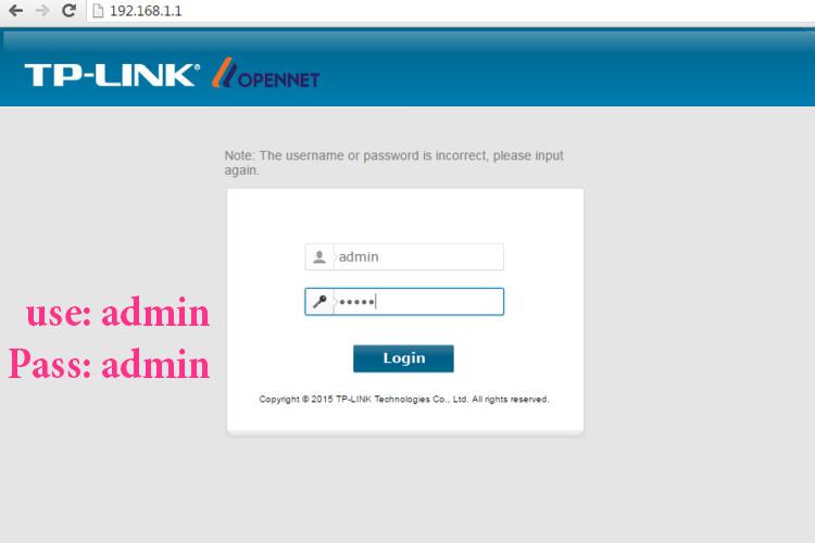 login internet wifi opennet